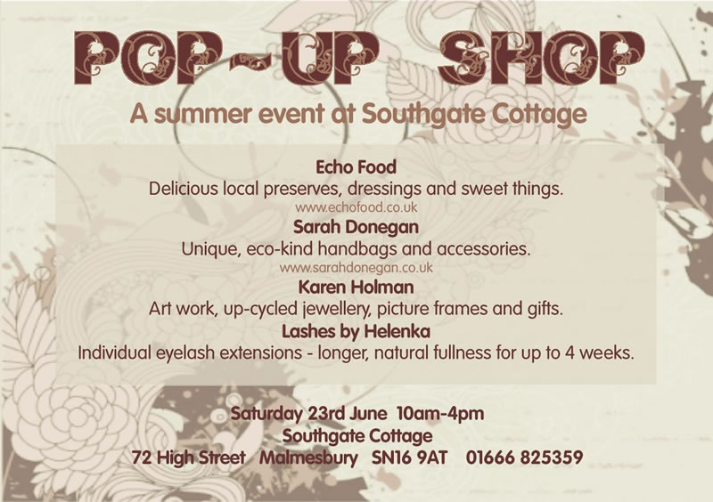 POP UP SHOP Summer 2012 at Southgate Cottage