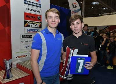 Teen karting star collects award at Autosport International Show