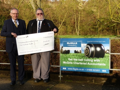 Bowled over by donation towards new artificial surface