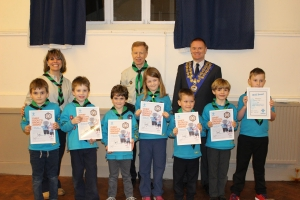 Bear Grylls signed Chief Scout certificates for hard-working Beavers