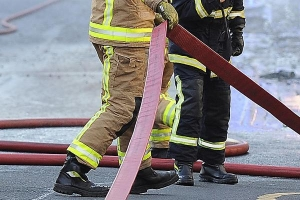 A fire crew from Malmesbury used one hose reel jet to put out the bonfire