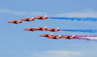 Red Arrows will perform their final salute at the RAF Fairford Air Tattoo