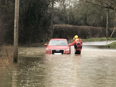 Storm Dennis: Drivers ignoring road closure signs and getting stuck in floods