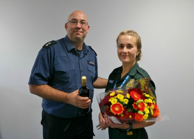 Emergency call handler receives accolade